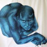 Valentino Cipriano sagoma in blue